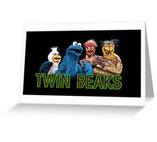 Twin Beaks Greeting Card