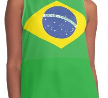 BRAZIL, BRAZILIAN FLAG, FLAG OF BRAZIL, PURE & SIMPLE, Brazil, Football, Olympics, on GREEN Contrast Tank