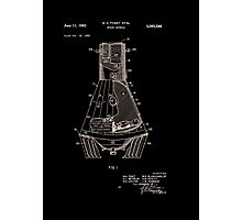 Space Capsule Patent 1963 Photographic Print