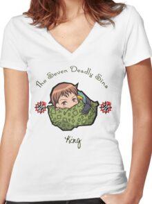 Chibi King Women's Fitted V-Neck T-Shirt