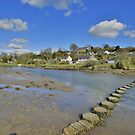Cornwall: Stepping Stones at Lerryn by Rob Parsons
