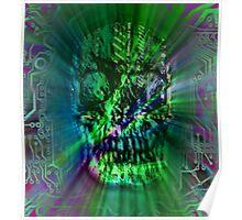 Spectrum Skull Poster