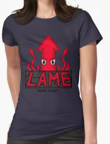 LAME Squid Pixel Art Womens Fitted T-Shirt