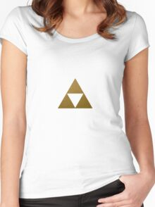 Legend of Zelda Gold Triforce Women's Fitted Scoop T-Shirt