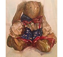 Stars and Stripes Bunny  Photographic Print