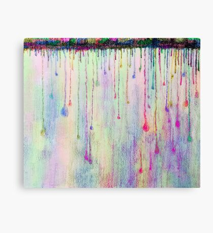 Rainbow Drops in vibrant ink Canvas Print