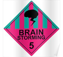 Brain Storming- Pink & Blue Poster