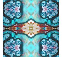 Blue Abstract Design Photographic Print