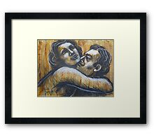 Lovers - I Love You To The Moon And Back Framed Print