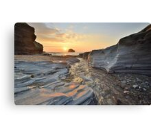 Cornwall: Lighting up the Rocks Canvas Print