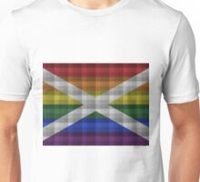 Saltire Rainbow Plaid Unisex T-Shirt