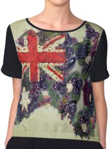 Australian Flag Map Fruits And Vegetables Chiffon Top