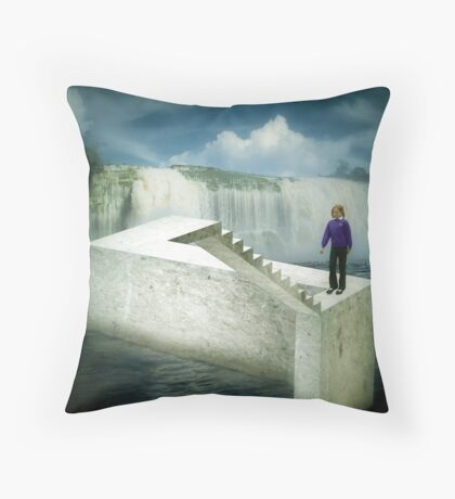 Unstairs Throw Pillow