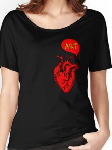 "Heart- ""Art"" (red) Women's Relaxed Fit T-Shirt"