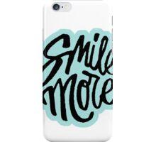 Smile More blue iPhone Case/Skin