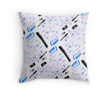 Watercolor Pattern Play in Amethyst Throw Pillow