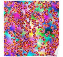Flowers Random Fill Pattern TyDy Poster