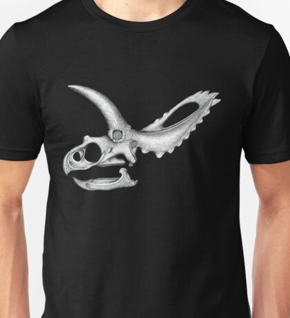 Triceratops Skull Unisex T-Shirt