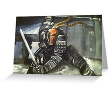 Deathstroke Greeting Card