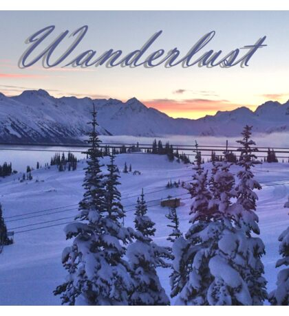 Wanderlust Sunrise Over The Mountains Sticker
