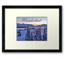Wanderlust Sunrise Over The Mountains Framed Print