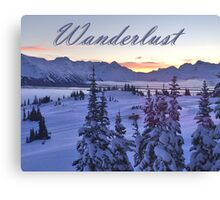 Wanderlust Sunrise Over The Mountains Canvas Print