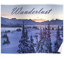 Wanderlust Sunrise Over The Mountains Poster