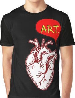 "Heart- ""Art"" Graphic T-Shirt"