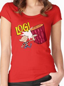 Log! Women's Fitted Scoop T-Shirt