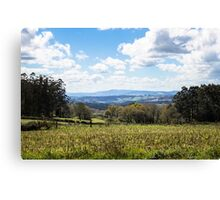 Idyllic landscape in Galicia during springtime Canvas Print