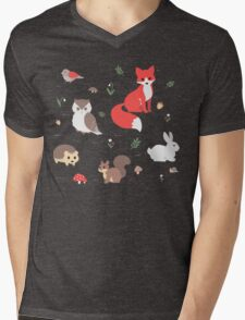 Animals of the Forest Mens V-Neck T-Shirt