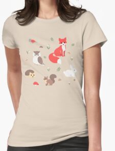Animals of the Forest Womens Fitted T-Shirt