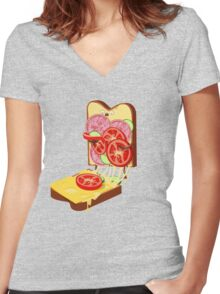 The accident Women's Fitted V-Neck T-Shirt