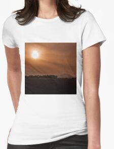 Sun Gazing Womens Fitted T-Shirt