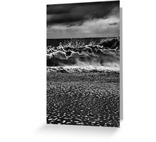 The Wave Upon The Shore Greeting Card