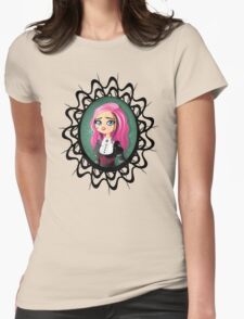 Gothic doll crying Womens Fitted T-Shirt