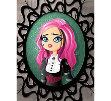 Gothic doll crying Photographic Print