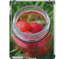 Glass Jar with Strawberries iPad Case/Skin