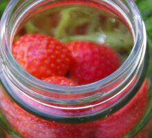 Glass Jar with Strawberries Sticker