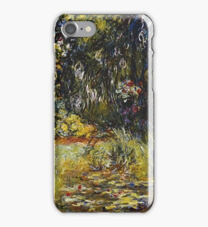 Claude Monet - Corner Of A Pond With Water lilies , Impressionism , Flowers ,Vintage iPhone Case/Skin