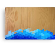 Wood Triangle Pattern Canvas Print