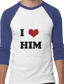 I love him Men's Baseball ¾ T-Shirt