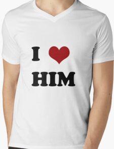 I love him Mens V-Neck T-Shirt