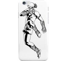 muay thai skull thailand martial art sport power kick impact decal iPhone Case/Skin