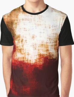 red, rose darkness in midwinter pixel abstration Graphic T-Shirt