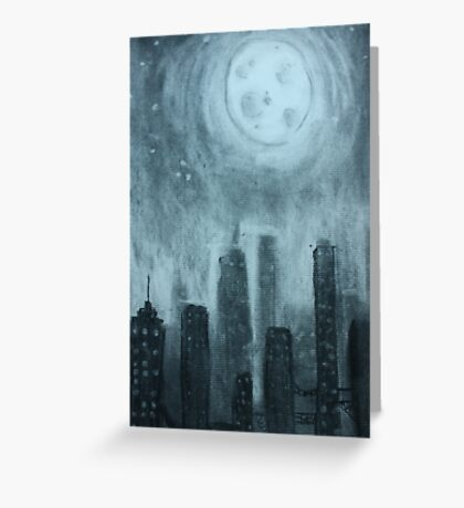 City at Night Greeting Card