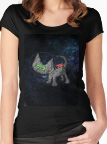 Astronaut Cat Women's Fitted Scoop T-Shirt