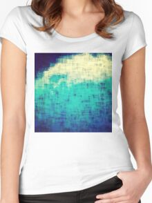 ice-flow pixelated abstration Women's Fitted Scoop T-Shirt