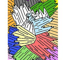 Color Shards Photographic Print