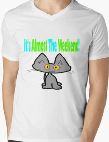 This Cat Is Ready For The Weekend Mens V-Neck T-Shirt